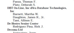 Figure 2 - Mrs. Tant as a lobbyist for DBT On-Line in 2000.