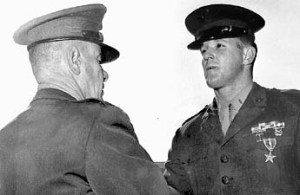Mr. McBride receiving the Bronze Star in 1970.