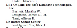 Figure 1 - Tant as a lobbyist for DBT On-Line in 1999.