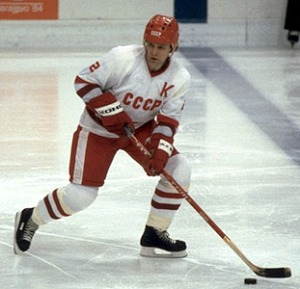 Soviet legend Viacheslav Fetisov made his NHL debut in Orlando for the New Jersey Devils.