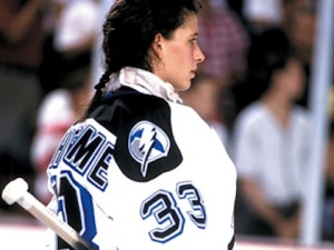 Manon Rheaume is the first, and only, woman to play in a NHL game.